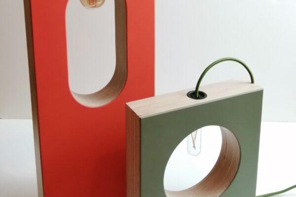 Birch Ply & Linoleum lamps